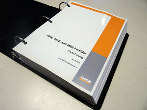 Case 584e 585e 586e Forklift Parts Catalog Manual List Book New With Binder