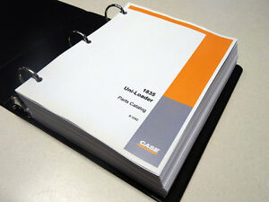 Case 1835 Uni loader Skid Steer Parts Catalog Manual List Book