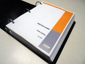 Case 1838 Uni loader Skid Steer Parts Catalog Manual List Book New W binder