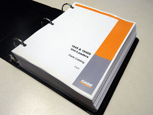 Case 1845 1845s Uni loader Skid Steer Parts Catalog Manual List Book New