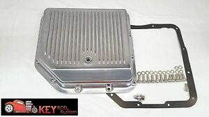 Turbo 350 Polished Aluminum Finned Transmission Pan Th350 Bolts