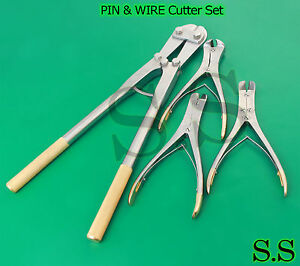 4 Pin Wire Cutter Set T c Jaw Orthopedic Surgical Pliers Veterinary Special