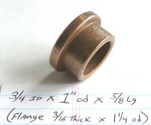 Oilite Flange Bushing Bronze New 3 4 Id X 1 Od X 5 8 Brass Bearing Spacer Sleeve