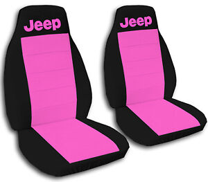 Jeep Wrangler Seat Covers Hot Pink Black With Jeep Canvas Front Set