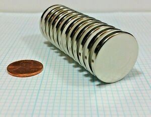 12 Neodymium N52 Disc Magnets Super Strong Rare Earth 1 X 1 8 Craft Neo