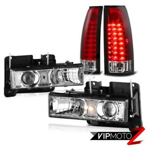 Chevrolet C10 C k Tahoe Gmc Sierra Yukon Projector Headlights Red Led Taillights