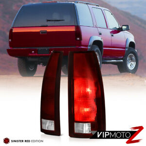 Dark Smoke Red 88 98 C K C10 Suburban Tahoe Silverado Sierra Truck Tail Light