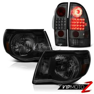 05 11 Tacoma Trd Sport Sinister Black Headlights Smoked Tail Lamps Smd Assembly