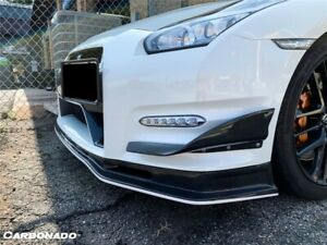 2012 2016 Gtr R35 Mn Style Carbon Fiber Front Canards Aggressive Body Kit
