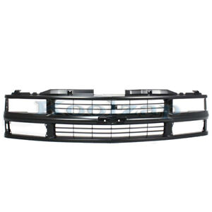 Chevy C k Fullsize Pickup Truck Grill Grille Assembly Black Gm1200239 15981092