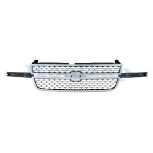 05 06 07 Silverado Pickup Truck Front Grill Grille Assembly Gm1200546 12335956