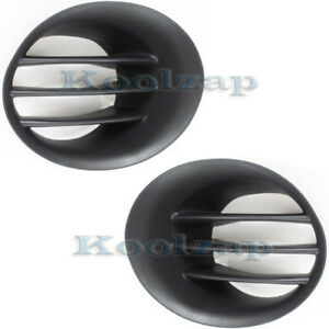 New 02 09 Ram Truck Bumper Fog Lamp Cover Grill Grille Left Right Side Set Pair