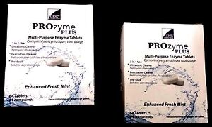 2x Prozyme Plus Ultrasonic Cleaning Solution Tablet 128 Tablets 2 Boxes Of 64