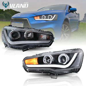 Led Headlights For Mitsubishi Lancer Evo X 2008 2017 Drl Front Lamps H l Beam