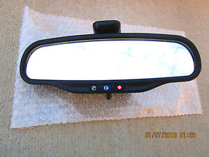 08 09 Pontiac G6 Convertible Gt 2d Coupe Rear View Mirror With Onstar 25877744