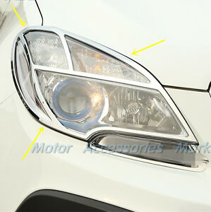 Chrome Head Light Frame Trim For Opel Vauxhall Mokka Buick Encore 2013 2014 2015