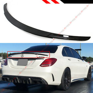 For 15 2021 Mercedes Benz W205 C63 Amg S B Style Carbon Fiber Trunk Spoiler Wing