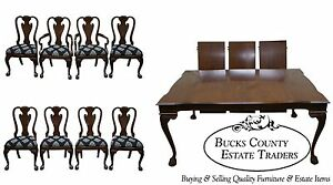 Harden Solid Cherry Chippendale Dining Room Table Chair Set