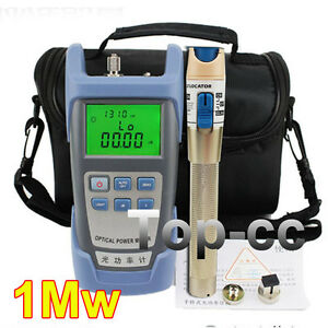 Fiber Optical Power Meter And 1 5km 1mw Visual Fault Locator Cable Tester Golden