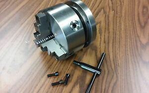 6 3 jaw Self centering Lathe Chuck Top Bottom Jaws W 1 1 2 8 Adapter Plate