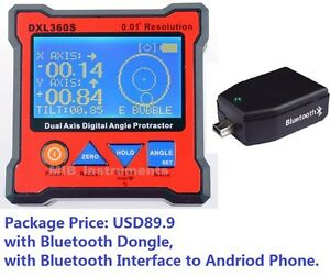Digital Bevel Box Inclinometer Angle Dual Axes Gyro Gravity Bluetooth 360s