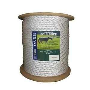 Dare Equi Rope Heavy Duty Braided W Stainless Steel Wire Electric Horse Fence