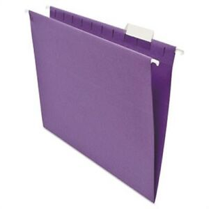 Hanging File Folders 1 5 Tab 11 Point Stock Letter Violet 25 box 3 Pack