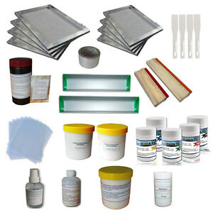 Screen Printing Simple Materials Kit T shirt Making Squeegee ink Hand Tools