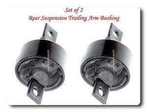 Set 2 Rear Suspension Trailing Arm Bushing Fits Integra Civic Del Sol Cr V Crx