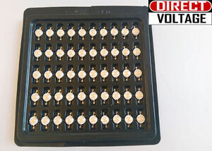 50 Pcs 3 Watt Full Spectrum Led Chip 400nm 840nm Plant Grow Lights