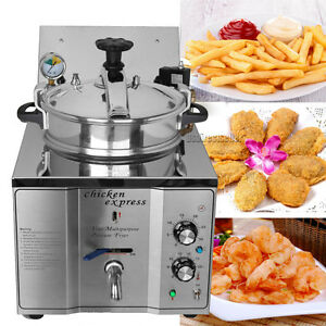 16l Commercial Pressure Fryer 50 200 Kitchen Cooking 4 4lbs Chicken Meat Vege