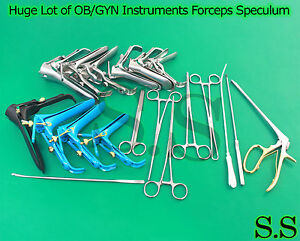 Huge Lot Of Ob gyn Instruments Forceps Speculum Surgical Medical Gynecology New
