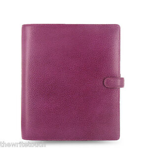 Filofax A5 Finsbury Leather Organizer Raspberry Leather 025371 2018 Diary