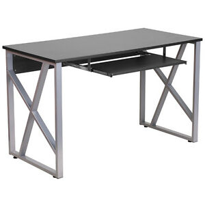 Flash Furniture Black Computer Desk With Pull out Keyboard Tray