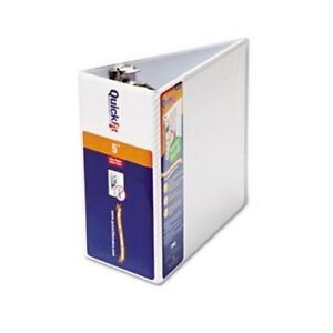 Quick Fit D ring View Binder 5 Capacity White X 3