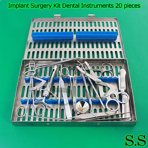 Dental Implant Surgery Kit Set Of 20 Pieces Dentistry Instruments Dn 583