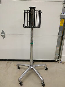 Roll Stand For Welch Allyn Spot And Spot Lxi Vital Monitors Rolling W Basket