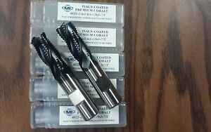 3 4 M42 Cobalt Roughing End Mills Tialn Coated 5pc For 119 00 Free Ship new