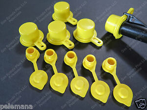 5 pack Blitz Spout Caps 5 Free Yellow Gas Can Vents Worth 5 89 Blow Out Sale