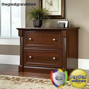 Lateral File Cabinet Wood Drawer Document Storage Office Home Furniture Letter