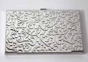 Metal Card Holder Art Nouveau Design