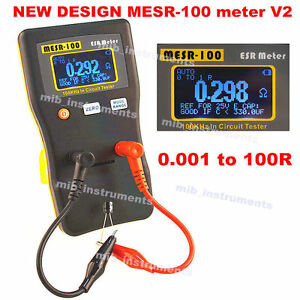Mesr 100 Autorange Incircuit Test Esr Capacitor Low Ohm Meter 0 001 100r Youtube