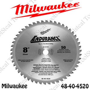 Milwaukee 48 40 4520 Metal Cutting Circular Saw Blade 8 50 Tooth Dry Cut new