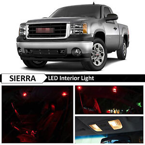 14x Red Interior Led Lights Package Kit For 2007 2013 Gmc Sierra