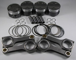 Jdm Nippon Racing H22a4 Type S Pistons Rings Scat H Beam Rods Sh Si Prelude 87mm