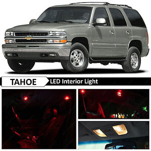 20pcs Red Full Interior Led Lights Bulbs Package Kit For 2000 2006 Chevy Tahoe