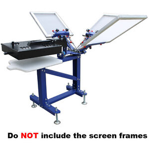 Silk Screen Printing 3 Color New Screen Printer With Metal Stand Dryer
