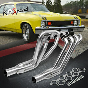 Ls Swap Long Tube Stainless Steel Header Exhaust For 67 74 Chevy Sbc Ls1 Ls6 Lsx