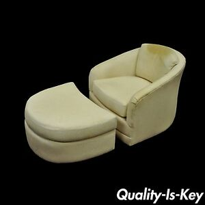 Vintage Mid Century Modern Maurice Villency Swivel Club Lounge Chair