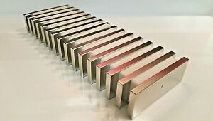 10 Huge Neodymium Block Magnet Super Strong Rare Earth N52 3 X 1 1 8 X 1 4